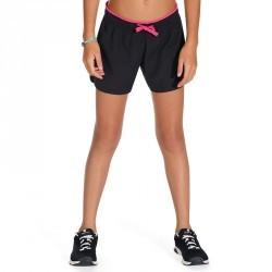 Short Gym Energy fille noir rose