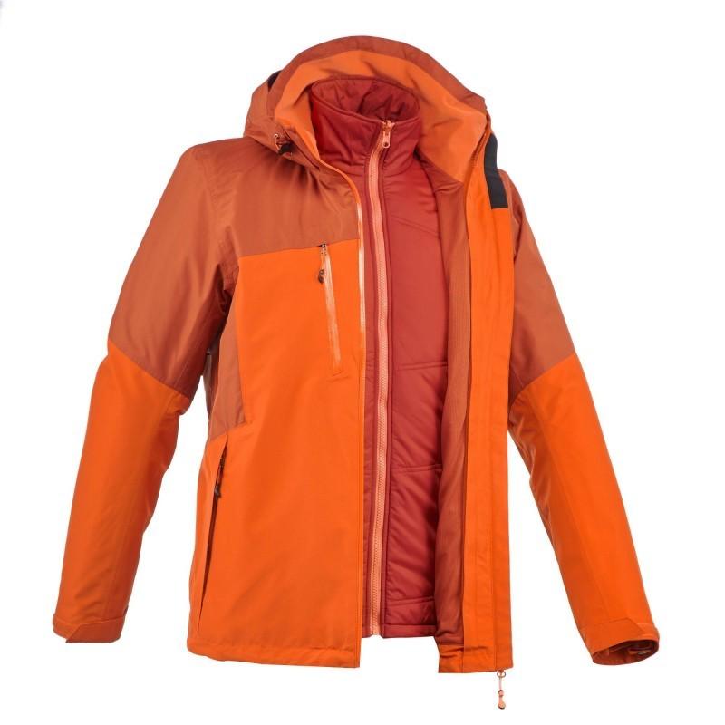 3en1 Rainwarm Test Veste 500 Orange Homme Trekking Avis HTPxn
