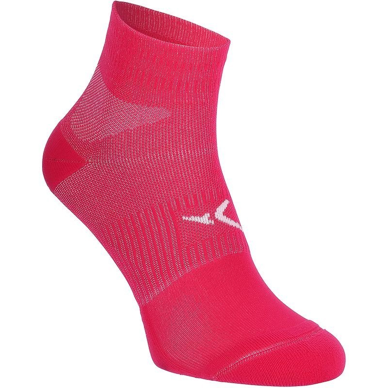 Chaussettes antidérapantes fitness rose Domyos
