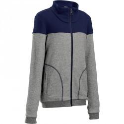 Veste chaude zippée Gym garçon bleu bleu marine
