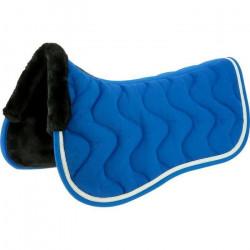 Amortisseur de dos EQUITHÈME -Jump- - Couleur : bleu électrique/blanc brillant, Taille : cheval