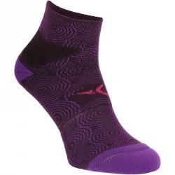 Chaussettes antidérapantes fitness violet Domyos