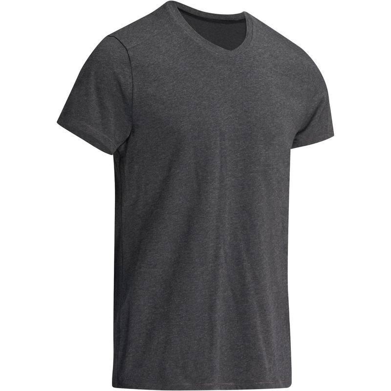 T-Shirt slim Gym & Pilates homme gris chiné foncé