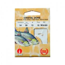 10 Hameçons Montés Water Queen Cristal Doré 906…
