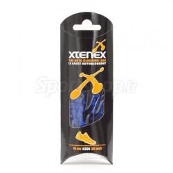 XTENEX Paire de lacets pour chaussures de sport - Autobloquants - 75 cm - Bleu roi