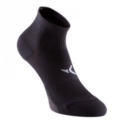 Chaussettes basses fitness x2 noir 500