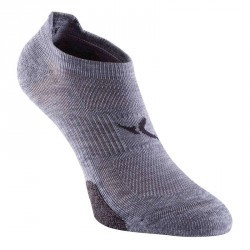 Chaussettes invisibles fitness x2 gris 500