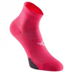 Chaussettes basses fitness x2 rose 500