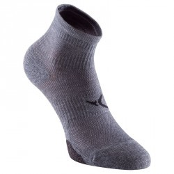Chaussettes basses fitness x2 gris 500