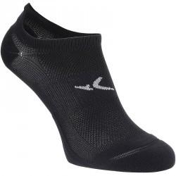 Chaussettes invisibles fitness x2 noir 500