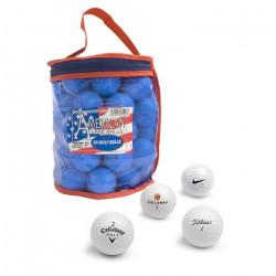 SECOND CHANCE Lot de 50 Balles de Golf en pochette - Blanc
