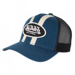 Casquette Von Dutch Bleu Marine et Beige Filet Baseball Tendance Stripe - Taille unique - Bleu