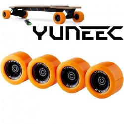 EGOCR006, Jeu de 4 roues pour skateboard électrique Yuneec Ego Cruiser