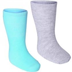 Lot de 2 paires de chaussettes Baby Gym vert clair/gris chiné