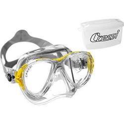 Cressi  Eyes Evolution Crystal Masque de plongée - Clear/Jaune - DS350010