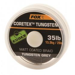 Fil tressé de pêche Fox Tungsten Coretex 35lb Edges - noir - TU