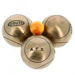 Boules de pétanque Atx  competition 172mm - Obut 710g Nuance Cuivré