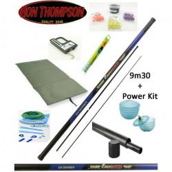 Pack pêche carpe Gangster + élastique + tapis + pezon + appâts + accessoires