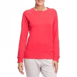 Sweat col rond Gym & Pilates femme rose