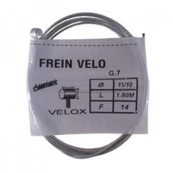 Câble de frein type WEINMANN vélo vintage VELOX acier 2.5 m 1.5 mm embout
