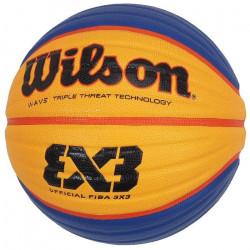 Ballon de basket Fiba 3 par 3 taille 6 - Wilson UNI Jaune