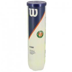 Balles de tennis Roland garros  all court tube de 4 - Wilson UNI Jaune