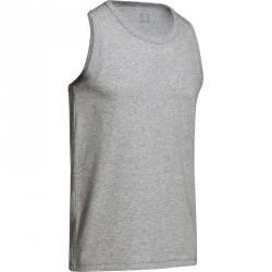 Débardeur Gym & Pilates homme gris chiné moyen