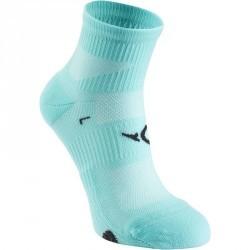 Chaussettes basses fitness x2 bleu clair 500
