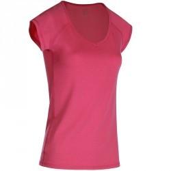 T-Shirt manches courtes slim Gym & Pilates femme rose vif