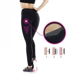 Legging réduction cellulite fitness femme noir Shape Booster