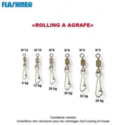 AGRAFES ROLLING DE PECHE FLASHMER Modèle : N°8