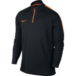 100 % POLYESTER   NIKE DRY ACDMY DRILL TOP ML NOIR AD