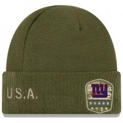 Bonnet NFL New York Giants New Era On Field Salute to Service 2019 Vert aille unique Multicolor