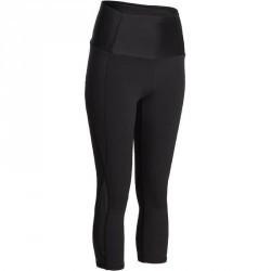Legging 7/8 galbant cuisse et effet ventre plat fitness femme noir Shape +