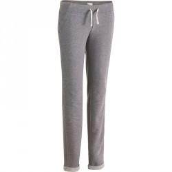 Pantalon slim Gym & Pilates femme gris chiné moyen