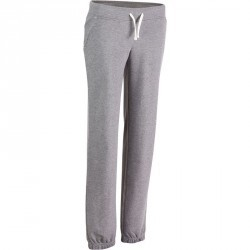 Pantalon regular Gym & Pilates  femme gris chiné moyen
