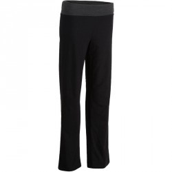Pantalon yoga femme coton issu de l'agriculture biologique noir / gris chiné