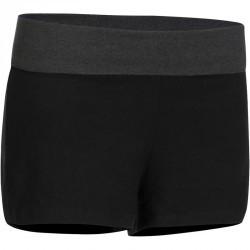 Short yoga coton bio femme noir gris