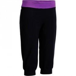 Corsaire yoga coton bio femme noir violet
