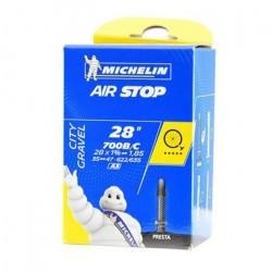 Chambre A AIR Michelin 700 x 35/47 (35/47-622/635) A3 Valve Presta 40MM AIRSTOP Butyl Velo Gravel VTT VTC Route Chemin