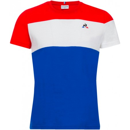 T-SHIRT H   LE COQ SPORTIF TRI TEE SS N?1 M PUR ROUGE/NEW OPT WHIT