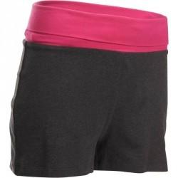 Short yoga coton bio femme gris rose