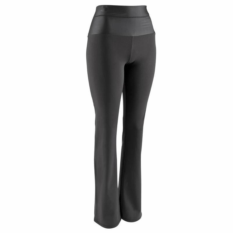 Pantalon regular effet ventre plat fitness femme noir Shape