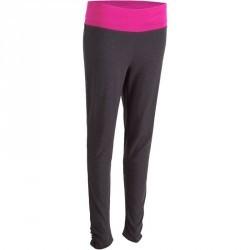 Legging yoga coton bio femme gris rose
