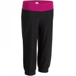 Corsaire yoga coton bio femme gris rose
