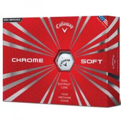 Callaway pour Homme CG BL 16Chrome Doux Balle de Golf Taille Unique Blanc