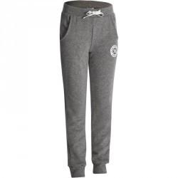 Pantalon chaud regular imprimé Gym fille gris
