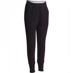 Pantalon chaud slim imprimé Gym fille noir