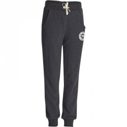 Pantalon chaud regular imprimé Gym fille noir