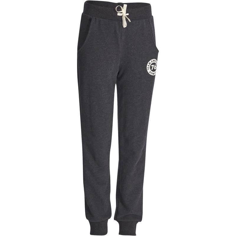 Pantalon chaud regular imprimé Gym fille noir